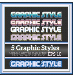 Set of cold graphic styles for various design vector