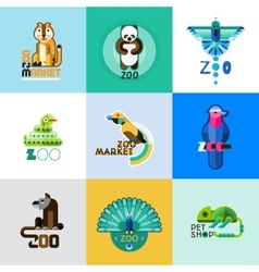 Zoo Logo Set vector image
