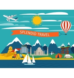 Splendid travel background vector