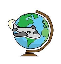 Travel globe vector