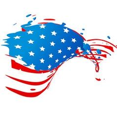 creative american flag vector image