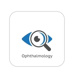 Ophthalmology and medical services icon flat vector