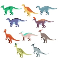 Set of duck dinosaurs vector