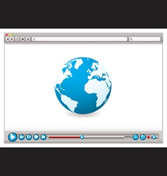 world wide web browser vector image