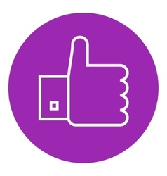 Thumb up line icon vector