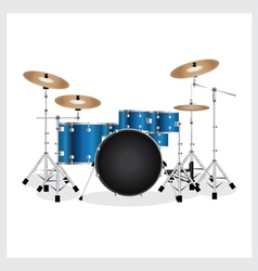 Drum set blue vector