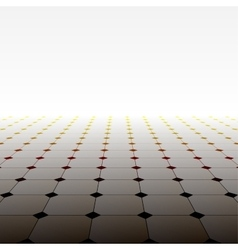 Abstract background perspective tiled floor vector