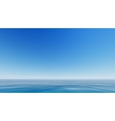 Blue sea and clear sky vector