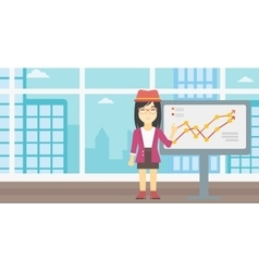 Businesswoman making business presentation vector image vector image