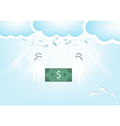Dollar bank feathers vector