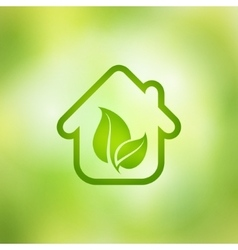 Eco house on a green background vector image vector image