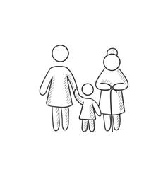Family sketch icon vector image vector image