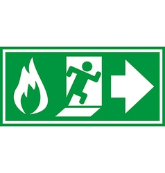 Fire exit 02 vector