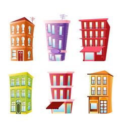 funny buildings set vector image