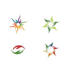 Hand care logo template vector