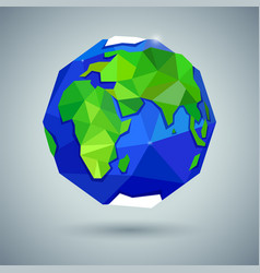 Icon of globe or earth planet vector