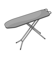 Ironing board dry cleaning single icon in outline vector