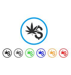 Marijuana business rounded icon vector