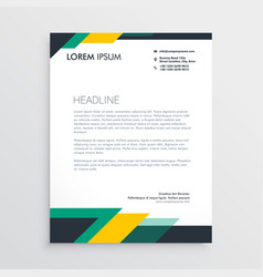 modern letterhead design template with geometric vector image vector image