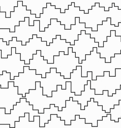monochrome pixel zigzag seamless pattern vector image