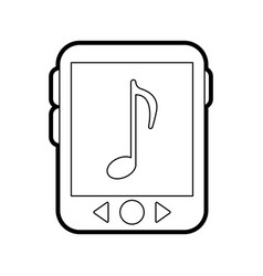 music player vector image