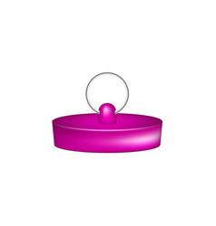 Rubber plug in purple design vector