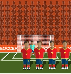 Spain Soccer Club Penalty on a Stadium vector image vector image