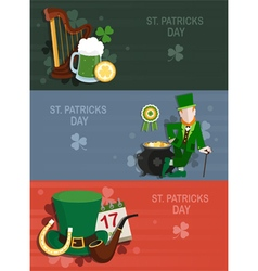 St Patricks Day backgrounds vector image