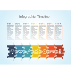 timeline arrows 7 vector image vector image