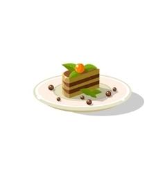 Traditional Italian Layered Cake Dessert vector image