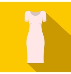 White dress icon flat style vector image vector image