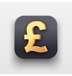 Money icon symbol of gold pound vector