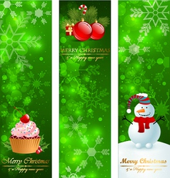 Christmas vertical banners vector