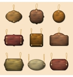 Old wooden label templates or banners vector image
