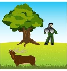 Huntsman on deer vector