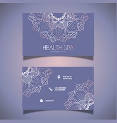 Decorative business card design vector