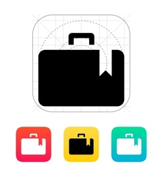 Case bookmark icon vector