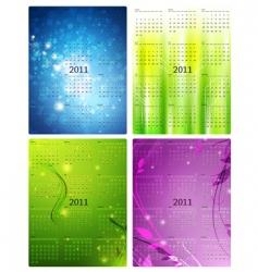 2011 calendar templates vector