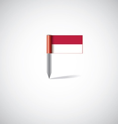 Indonesia flag pin vector image