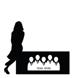 Girl with teamwork vector