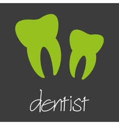 Dentist tooth design banner and background eps10 vector