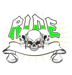 skulls ride vector image