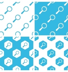 Magnifier patterns set vector