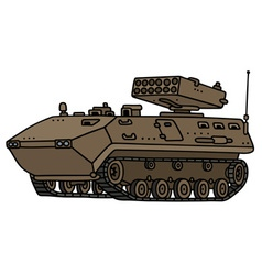 Sand track armoured vehicle vector