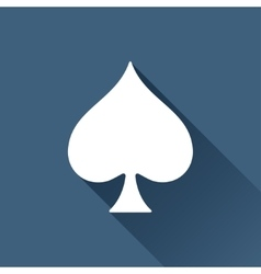 Game spade icon vector