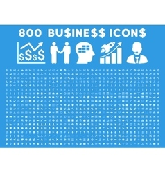 800 flat business icons vector