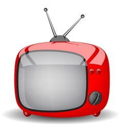 Red cute tv vector