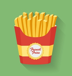 Icon of french fries vector