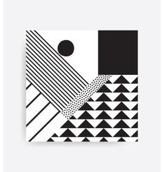 Black and white neo memphis geometric pattern vector