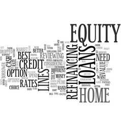 A comparative analysis of equity loans text word vector